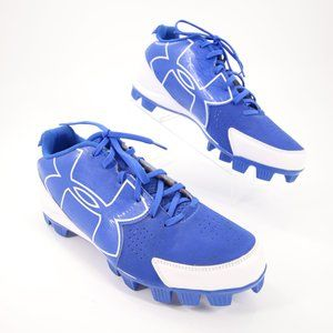 Under Armour Baseball Cleats Shoes Blue White 14